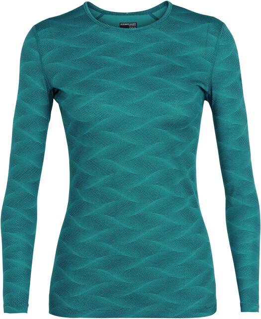 Icebreaker W's 200 Oasis Curve Curve Curve LS Crewe Shirt Kingfisher/Arctic Teal 07c569
